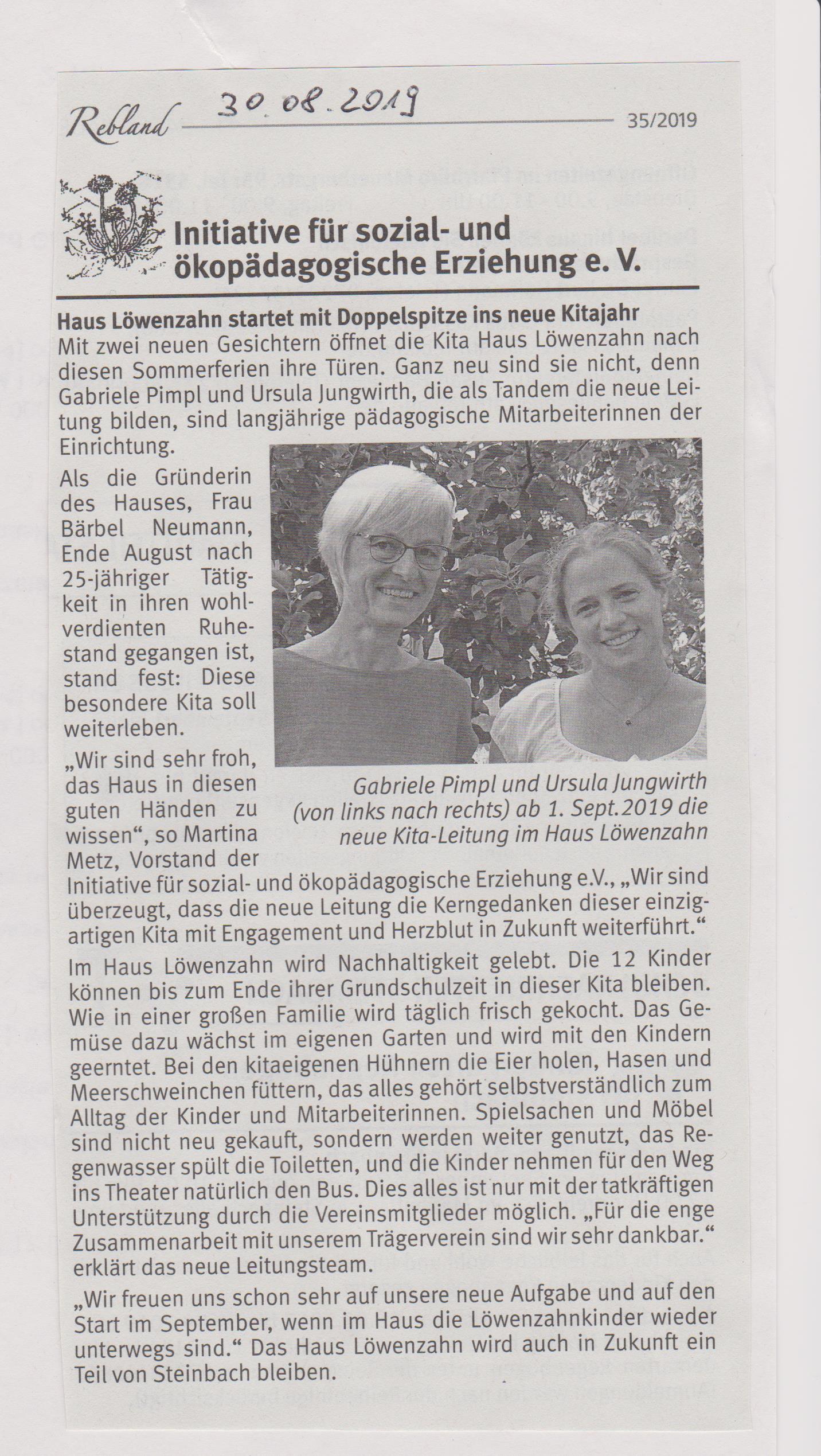 nachrichtenblatt_30.8.19_neue_Kitaleitung